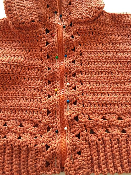 #6 Installing a Zipper in a Crocheted Garment by Pattern-Paradise.com