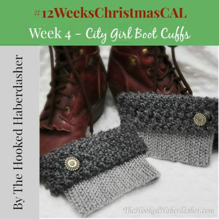 12 weeks of christmas blog hop CAL City Girl Boot Cuffs