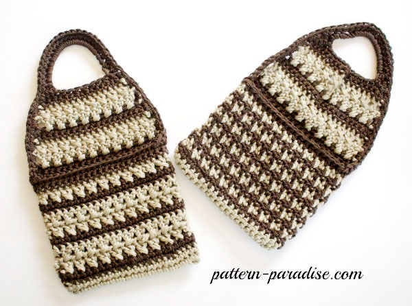 Free Crochet Pattern Forget-Me-Not Pouch by Pattern-Paradise.com