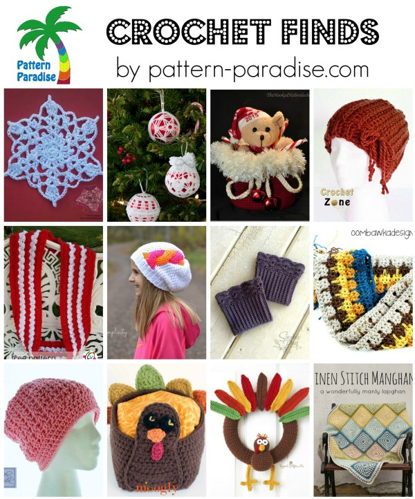 Crochet Finds 11-16-15 on Pattern-Paradise.com