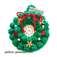 Crochet Pattern Money & Gift Card Holder by Pattern-Paradise Wreath