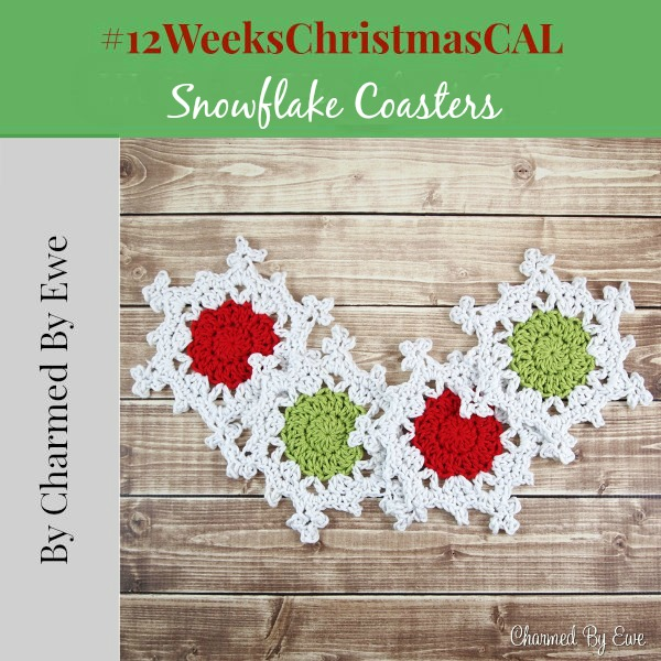 12 weeks christmas snowflake coaster