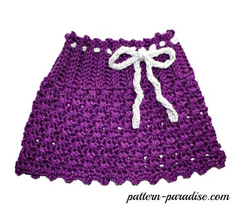 X Stitch Sparkles & Sprinkles Skirt Crochet Pattern