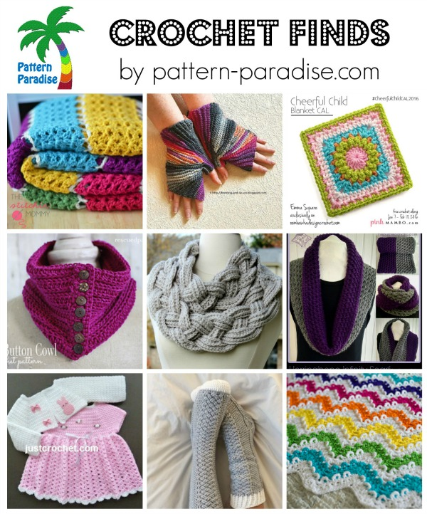 Crochet Finds 1-10-16 on Pattern-Paradise.com