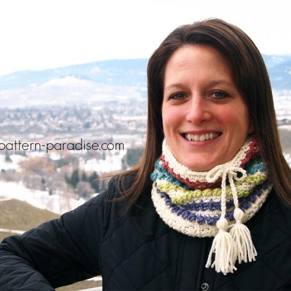 Free Crochet Pattern: Vista Valley Convertible Cowl