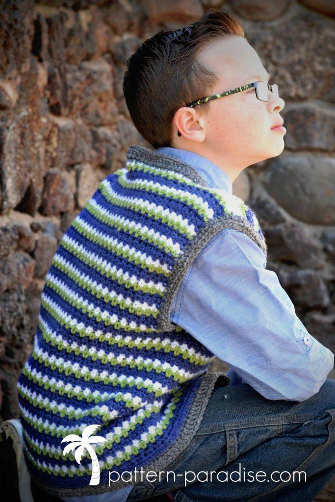 Crochet Pattern Uptown Vest by Pattern-Paradise.com
