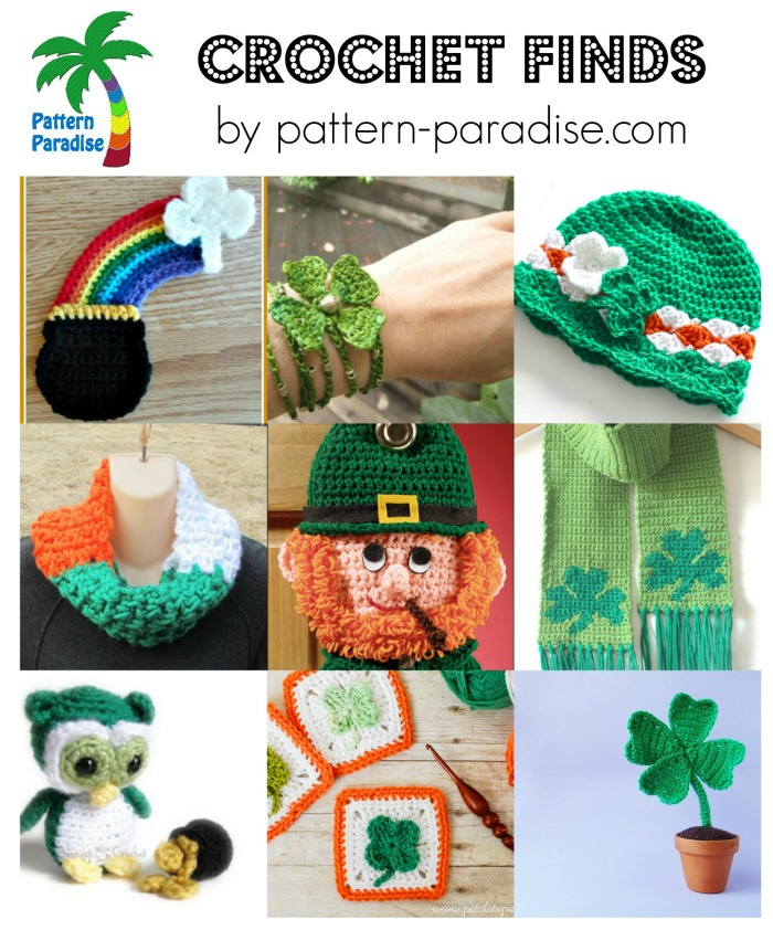 Luck 'o The Irish Crochet Finds on Pattern-Paradise.com