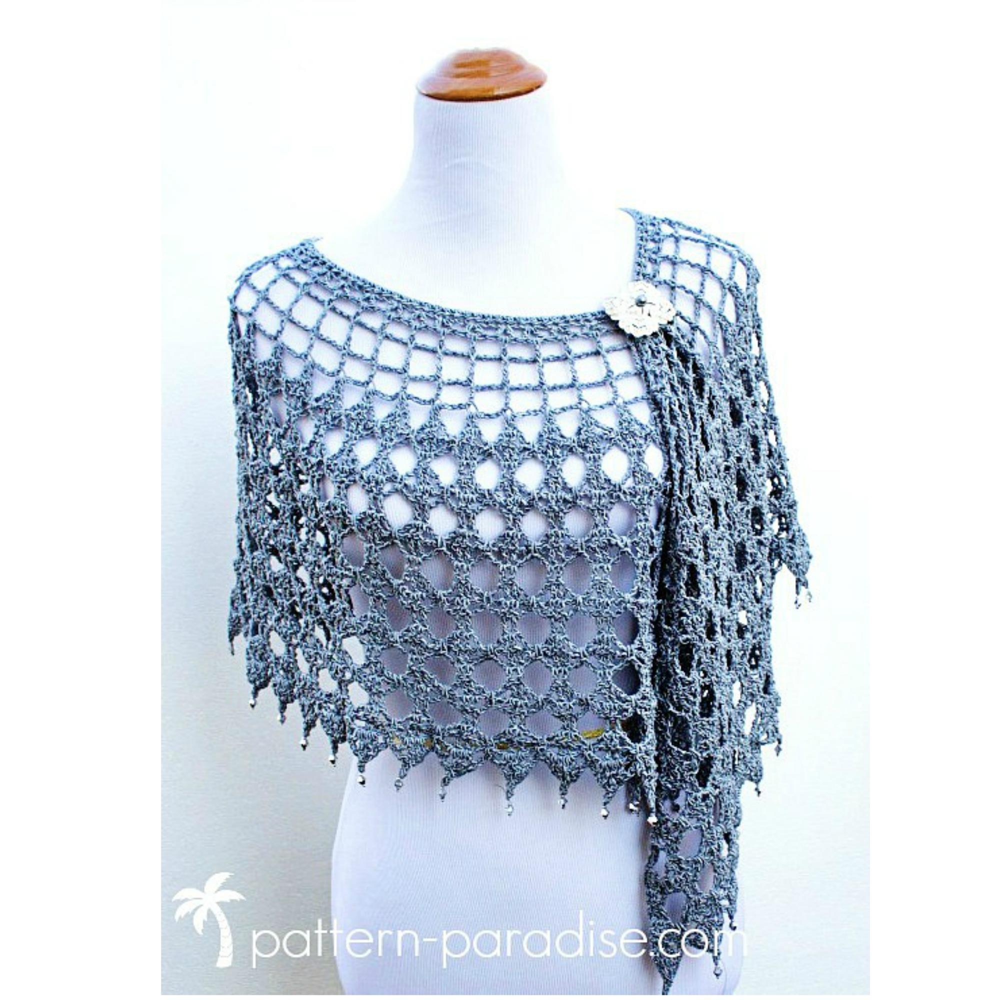 Crochet Pattern: Evening Shimmer Wrap | Pattern Paradise