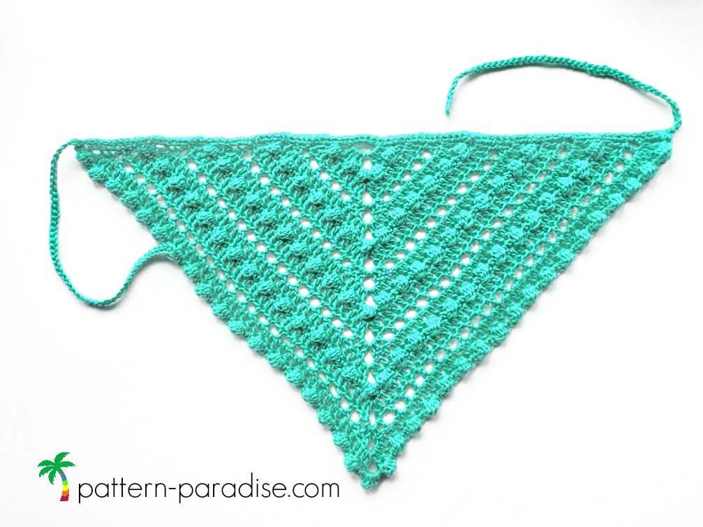 Free crochet pattern bobble kerchief pattern paradise free crochet pattern for bobble kerchief on pattern paradise dt1010fo