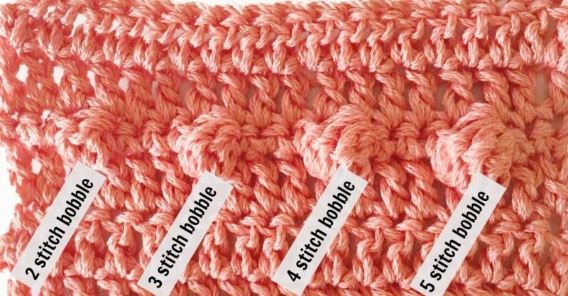 Bobble Stitch Sizes