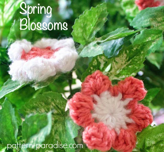 Crochet Pattern Spring Blossoms on a Vine by Pattern-Paradise.com
