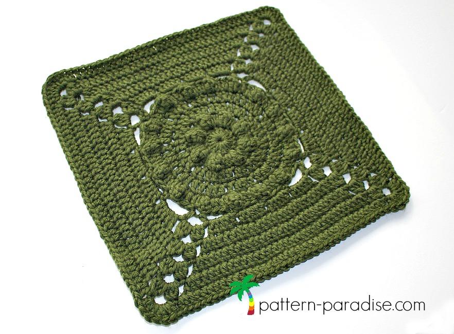 Crochet Pattern Tranquil Garden Afghan Square