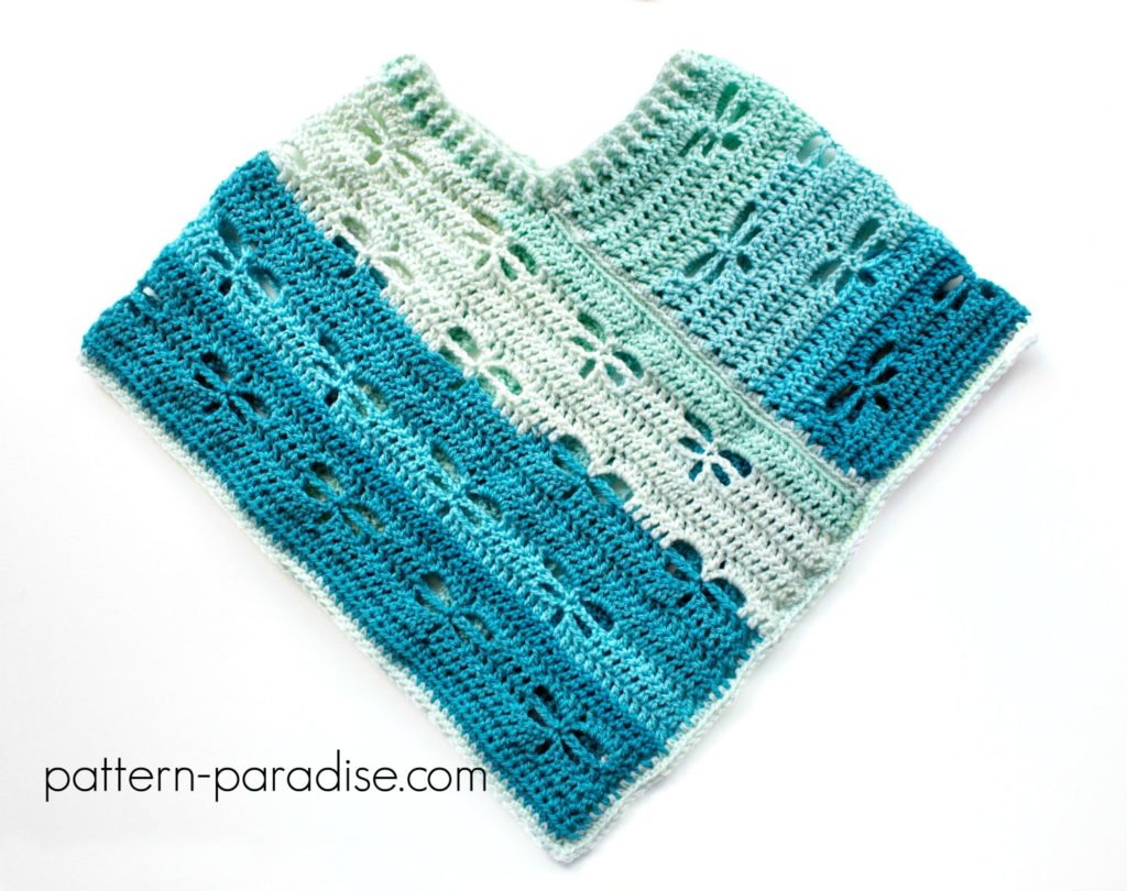 Free Crochet Pattern Dragonfly Poncho by Pattern-Paradise.com