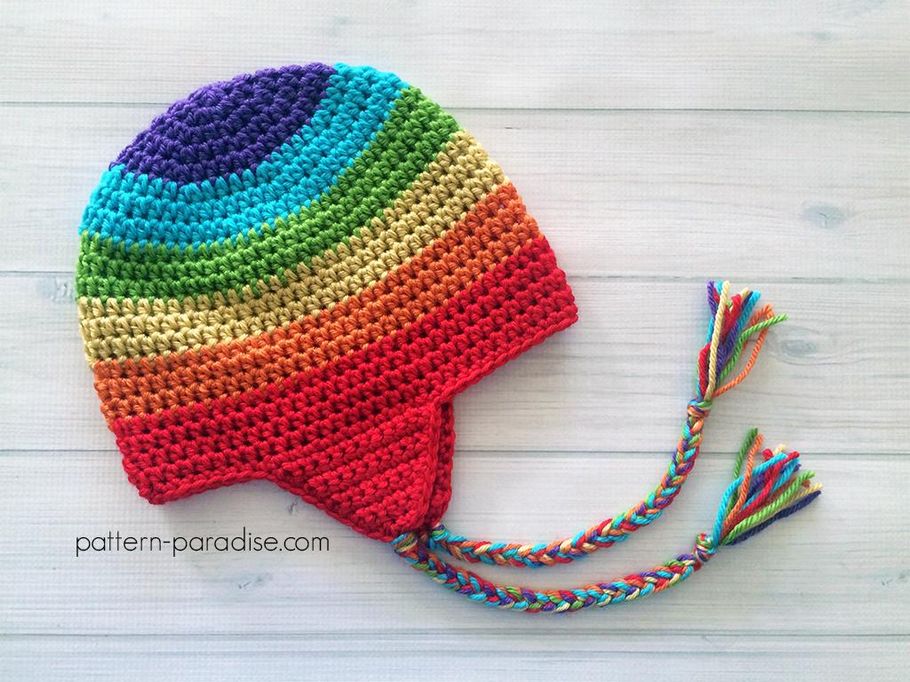 Free Crochet Pattern Easy Earflap Hat Pattern Paradise