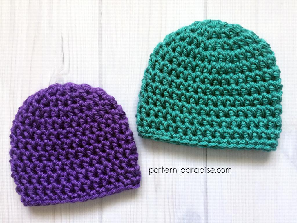 Free Crochet Pattern Easy Preemie Hat Pattern Paradise