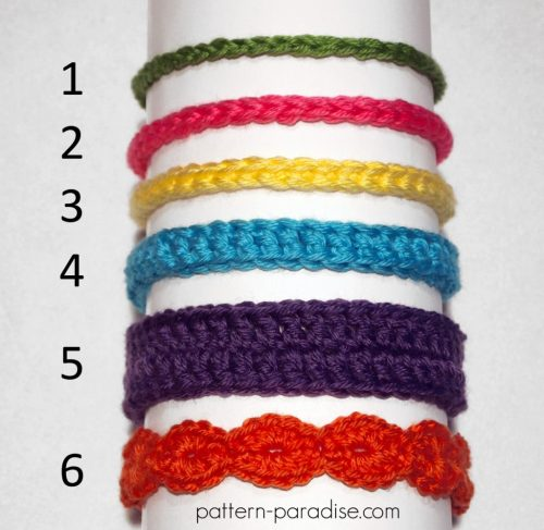 Free Pattern Crochet Baby Headbands by Pattern-Paradise.com