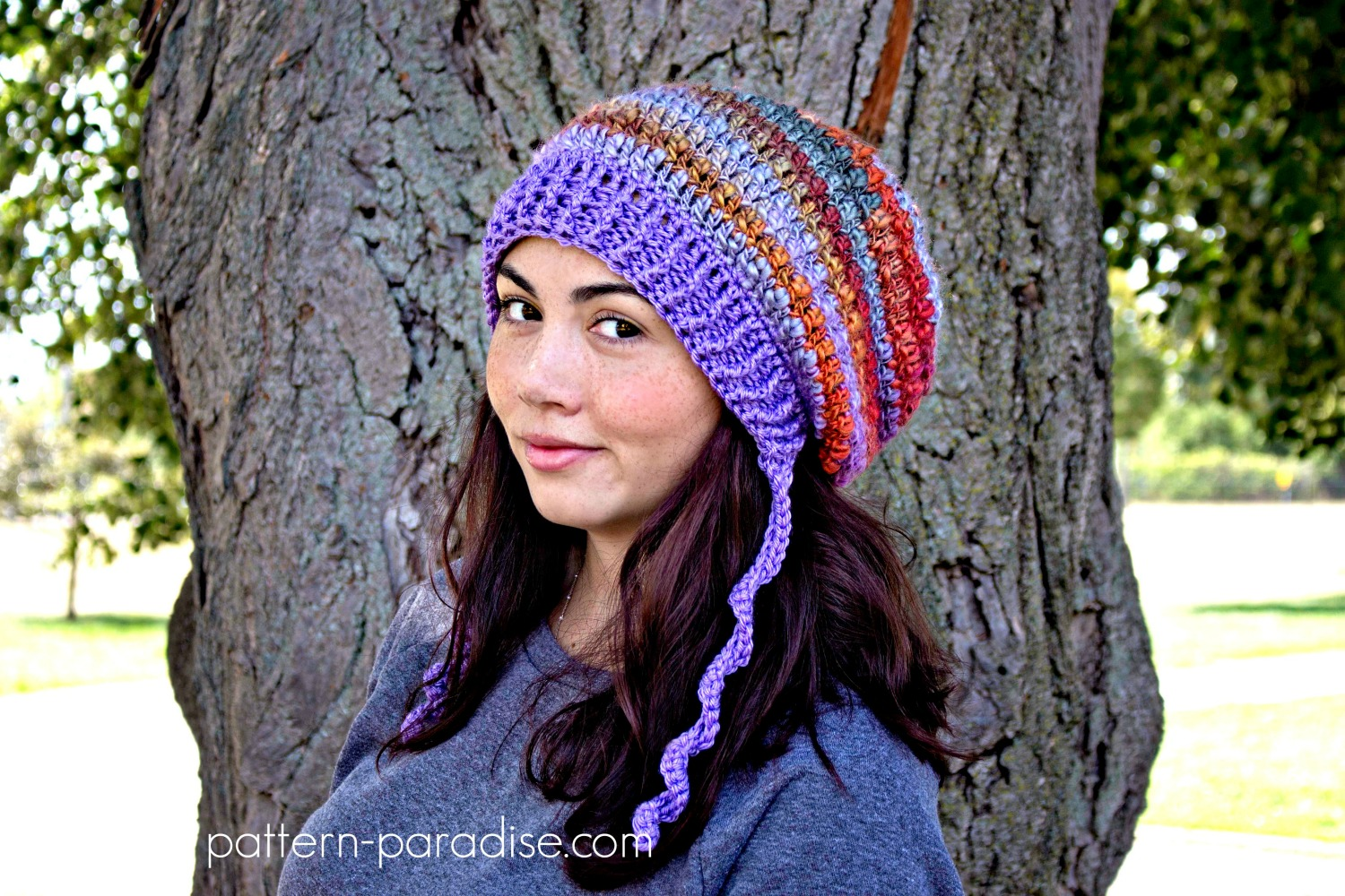 Free Crochet Pattern: Waves of Warmth Slouch | Pattern Paradise