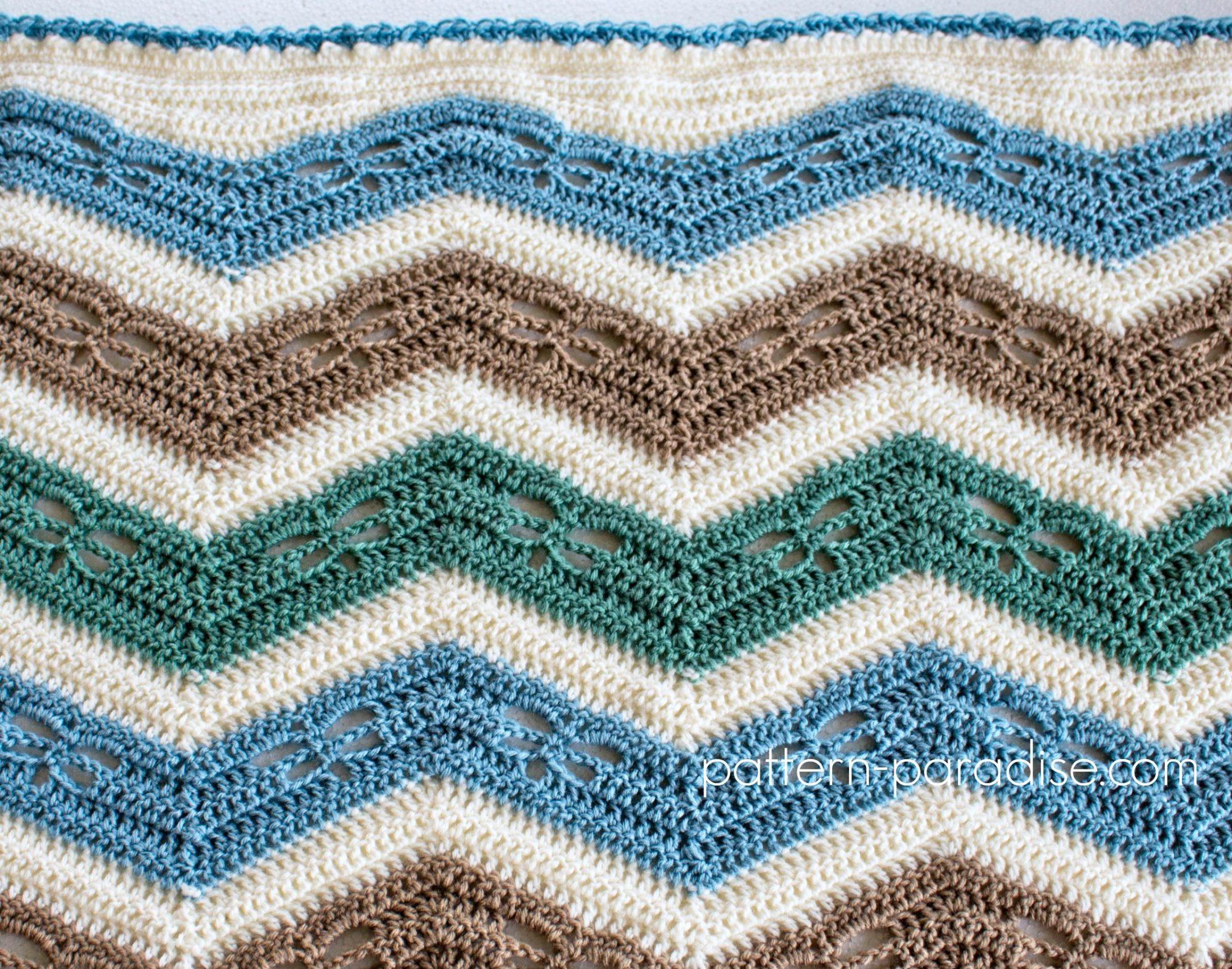 Crochet Dragonfly Baby Blanket Pattern : Free Crochet Pattern: Dragonfly Chevron Baby Blanket ...