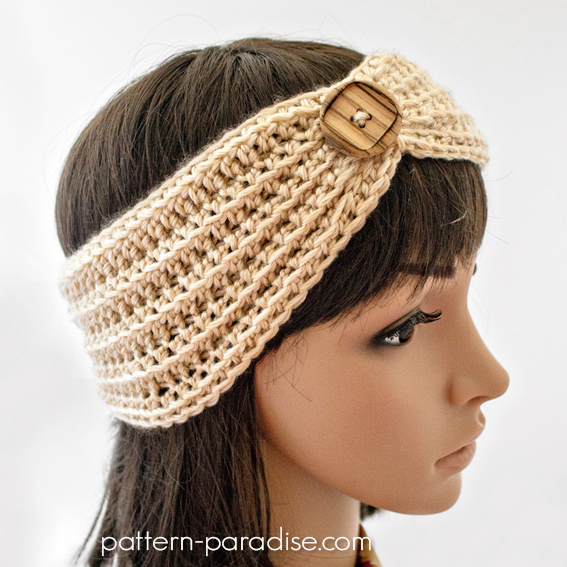 Free Crochet Pattern For Ladies Headband : Free Crochet Pattern: Marigold Headband Pattern Paradise