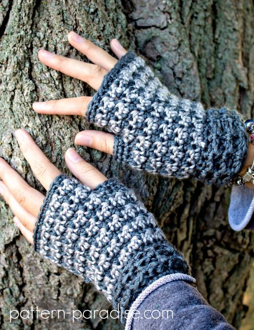 Crochet Pattern Dogwood Slouchy & Fingerless Gloves by Pattern-Paradise.com