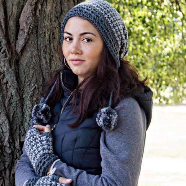 Crochet Pattern: Dogwood Slouchy & Fingerless Gloves