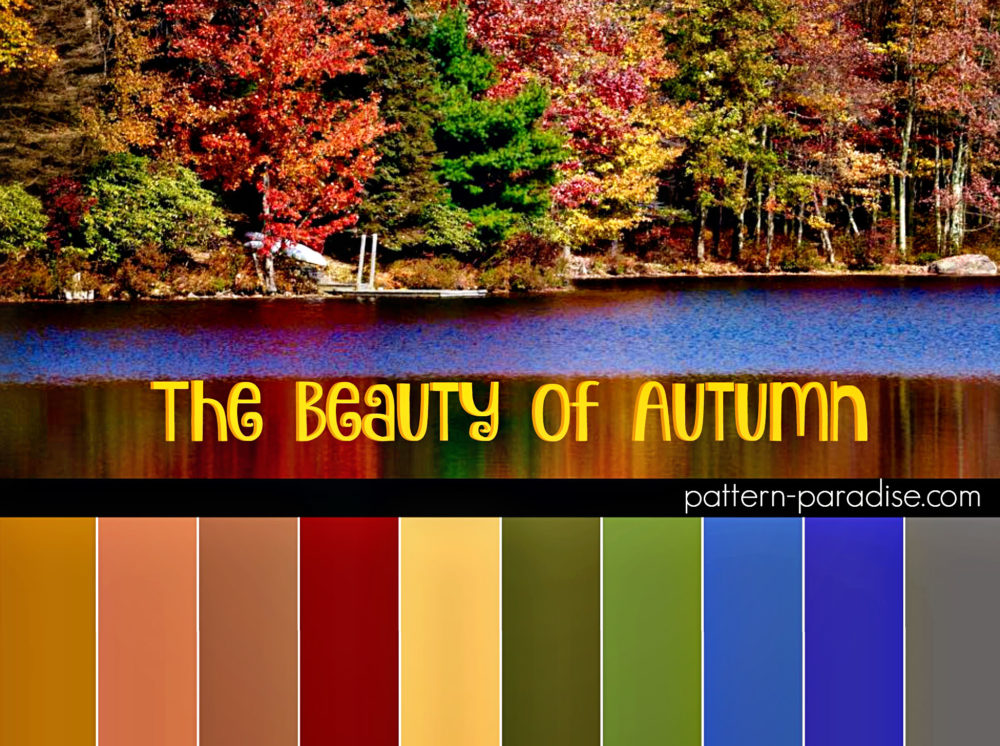 Color Inspiration Autumn on Pattern-Paradise.com