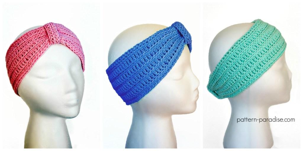 Free Crochet Pattern Tranquility Turban Headband by Pattern-Paradise.com