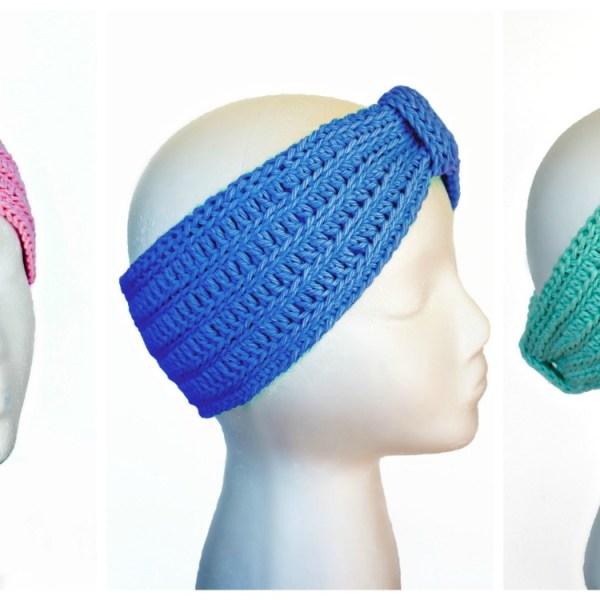 Free Crochet Pattern: Tranquility Turban Headband
