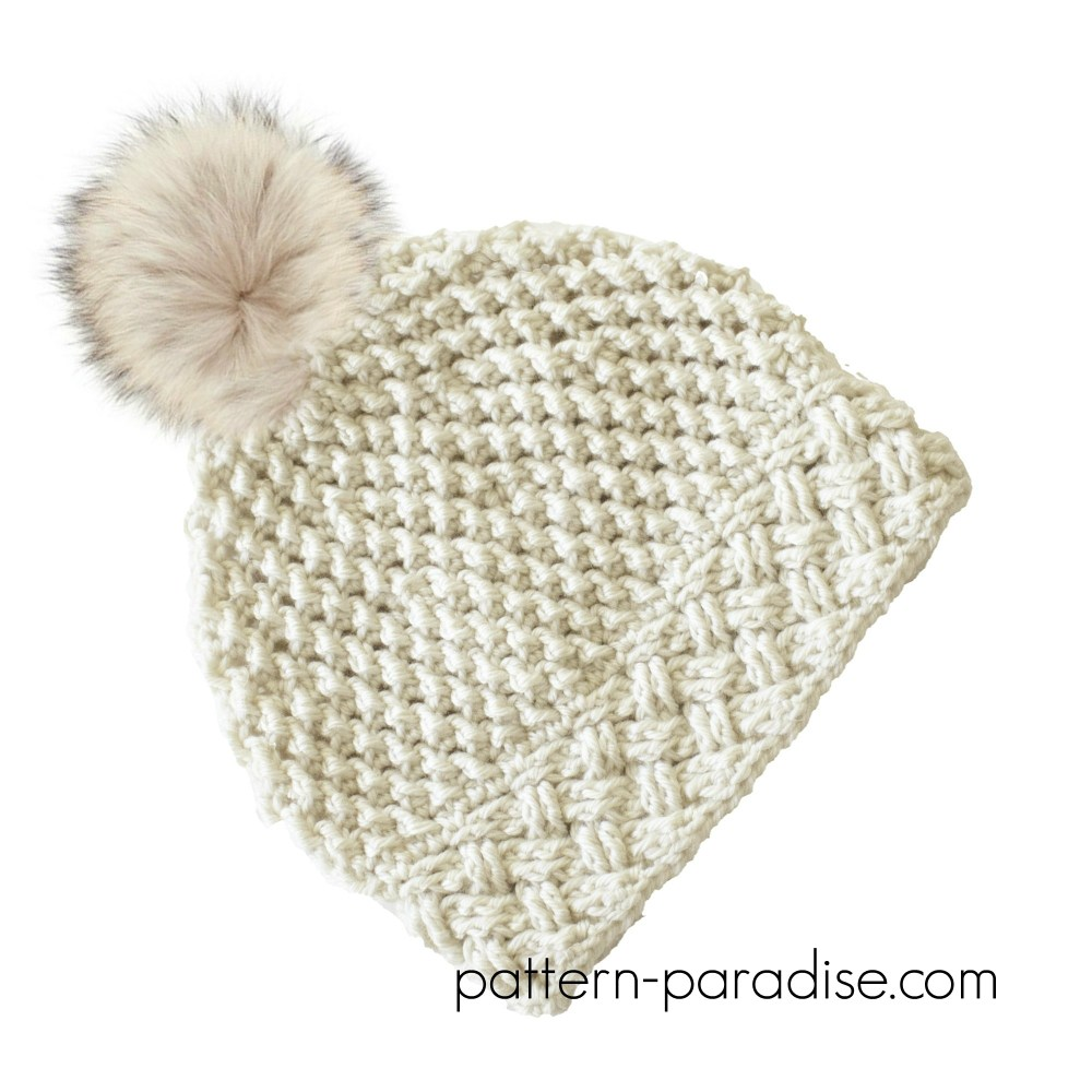 Crochet Pattern: Arctic Snow Hat by Pattern-Paradise.com