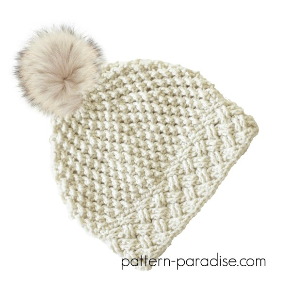 Crochet Pattern: Arctic Snow Hat