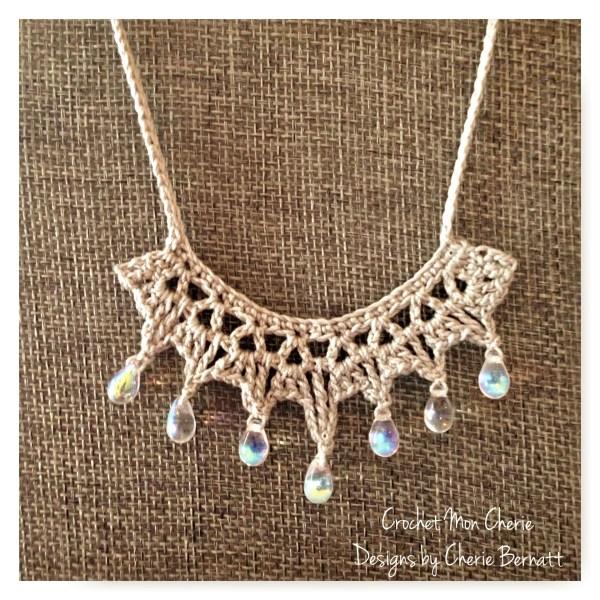 Free Crochet Pattern: Tanya's Teardrop Necklace