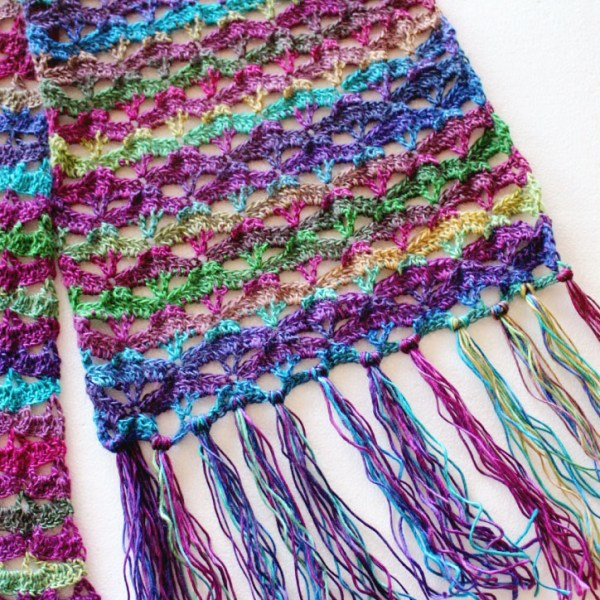 Free Crochet Pattern: Autumn Sunset Super Scarf