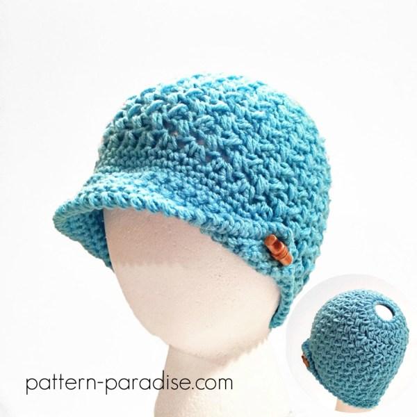 Crochet Pattern: Bean Town Beanie & Messy Bun Hat