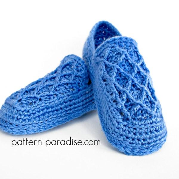 Crochet Pattern: Trellis Slippers
