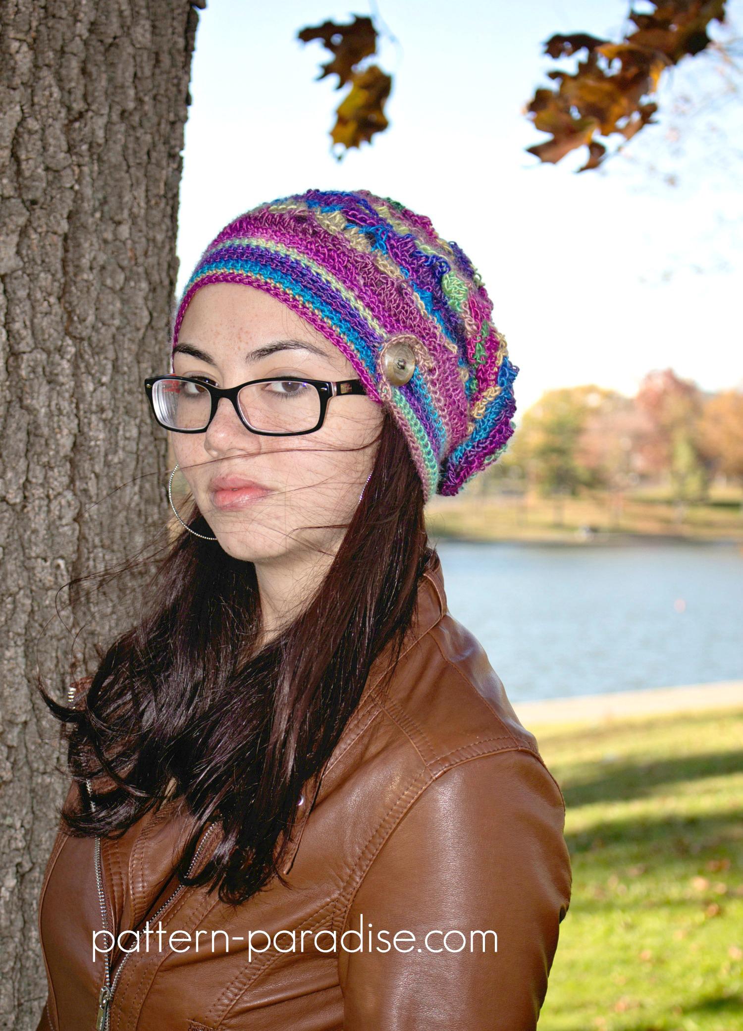 Free Crochet Pattern: Autumn Sunset Slouch | Pattern Paradise