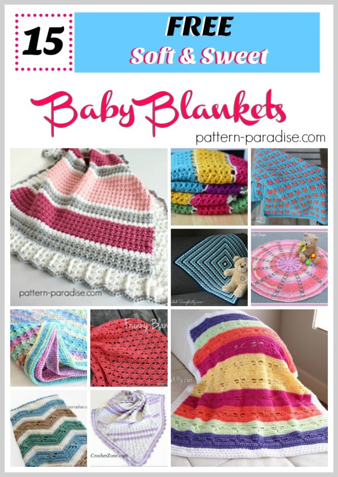 Free Crochet Patterns: Baby Blankets on Pattern-Paradise.com