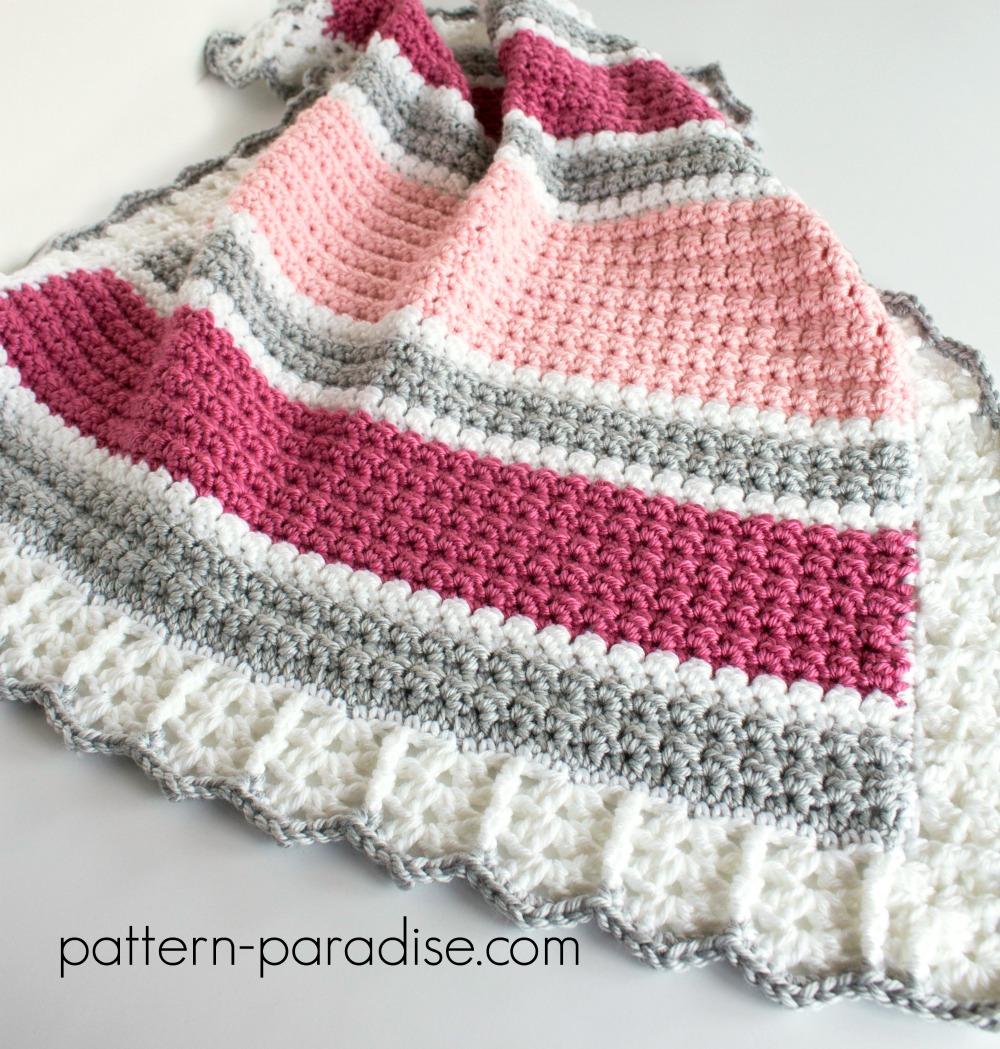Free Crochet Pattern: Essentials Baby Blanket | Pattern Paradise