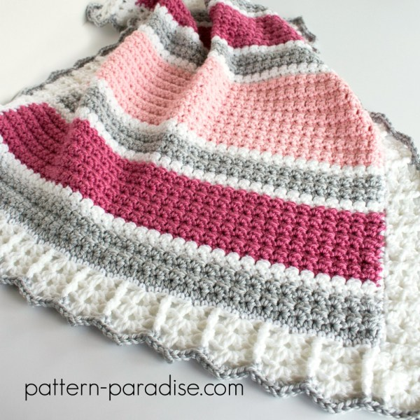 Free Crochet Pattern: Essentials Baby Blanket