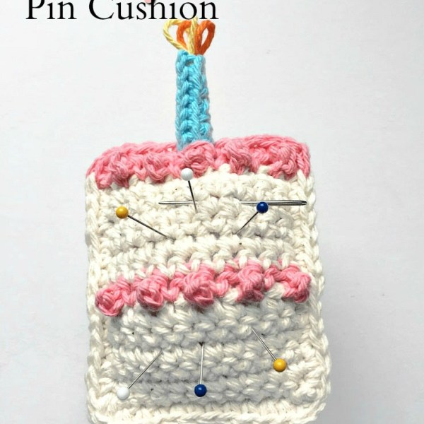 Free Crochet Pattern: Birthday Pin Cushion