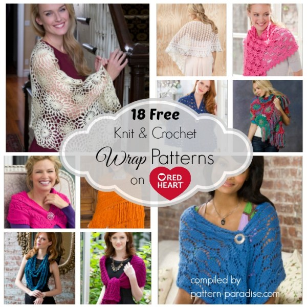 Crochet Finds – Red Heart Yarns Free Wrap Patterns