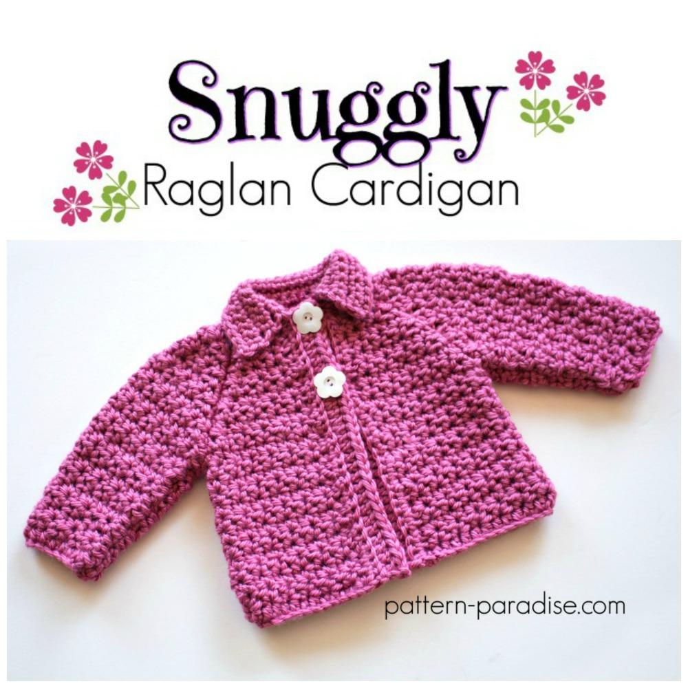 fc843e900 Free Crochet Pattern  Snuggly Raglan Cardigan