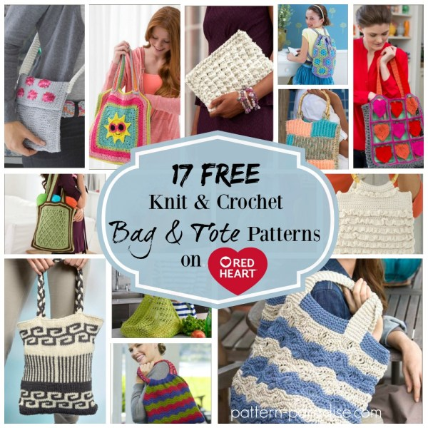 Crochet Finds – Red Heart Yarns Free Bag and Tote Patterns