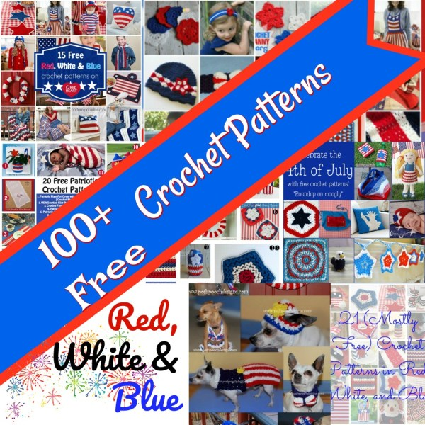 Crochet Finds – Crochet Fireworks – Red, White, Blue!