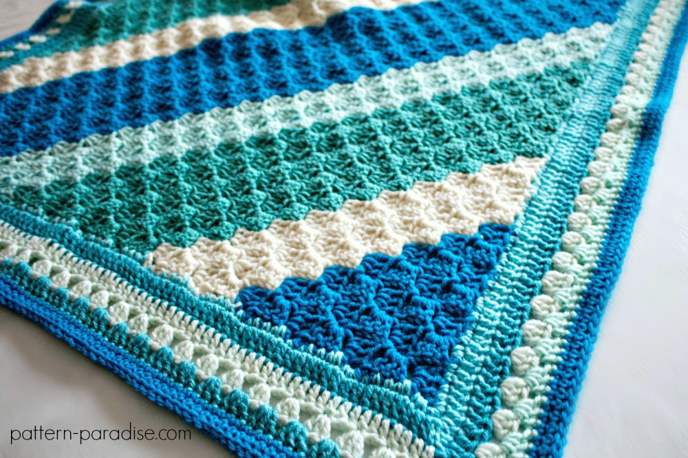 Free Crochet Pattern Crochet Casserole C2c Blanket Pattern Paradise
