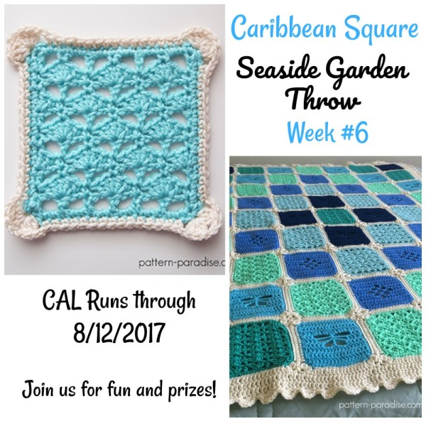 Seaside Garden Throw CAL – Caribbean Square