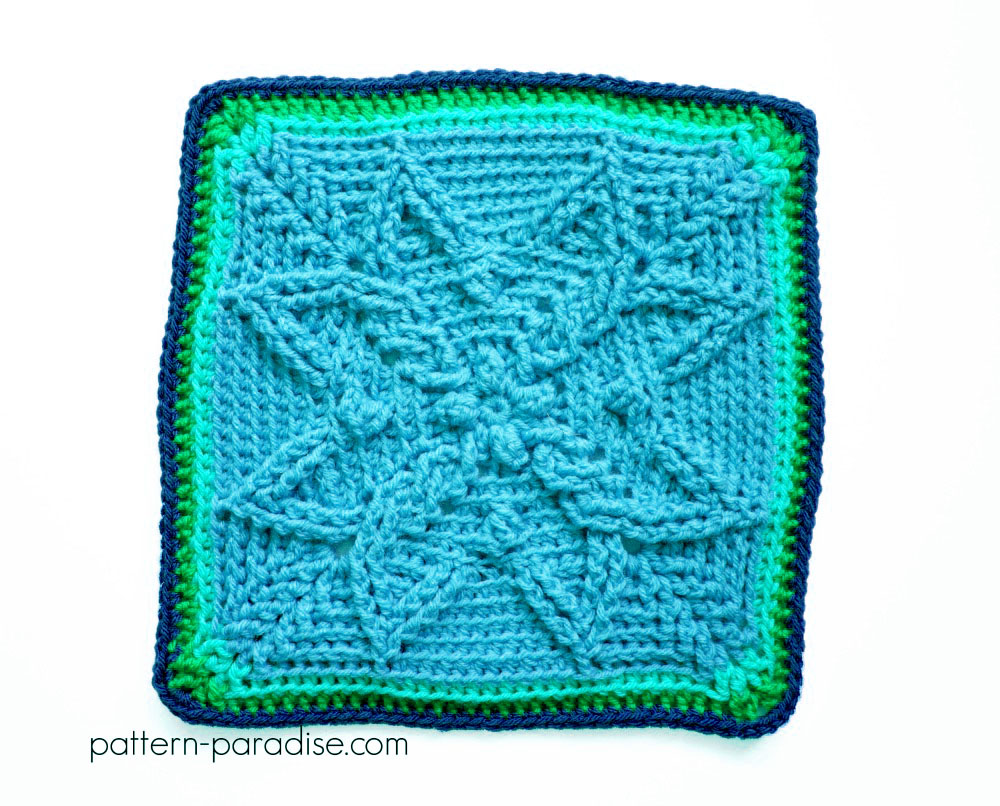 Free Crochet Pattern Autumn Sun 12 inch Square on Pattern-Paradise.com