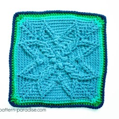 Free Crochet Pattern Autumn Sun 12 inch Square on Pattern-Paradise.com