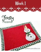 Free Crochet Pattern Frosty Placematas #12WeeksChristmasCAL on Pattern-Paradise.com