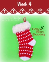 Holly Berry Stocking on Pattern-Paradise.com