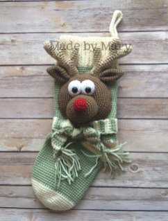 Rudolph Reindeer Stocking
